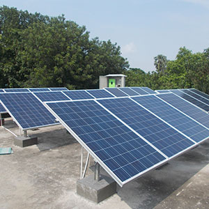 5 kWp * 19 Nos. Grid-Tie Roof Top Solar Power Plant
