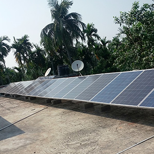 8 kWp off grid rooftop based SPV power plant