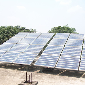 3 kWp Off – Grid Solar Power Plant installed in Malda