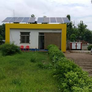 5 kWp Off-Grid Solar Power Plant installed in Sonbhadra District
