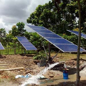5 HP AC Solar Pumps Installed in Gobardanga