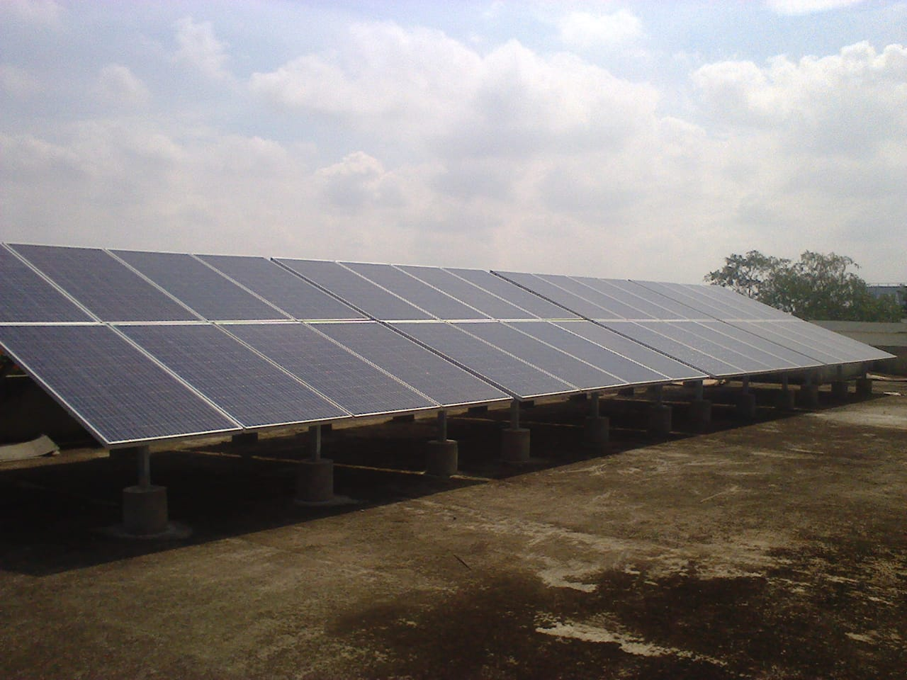 10 kWp * 24 Nos Off-Grid Roof Top Solar Power Plant